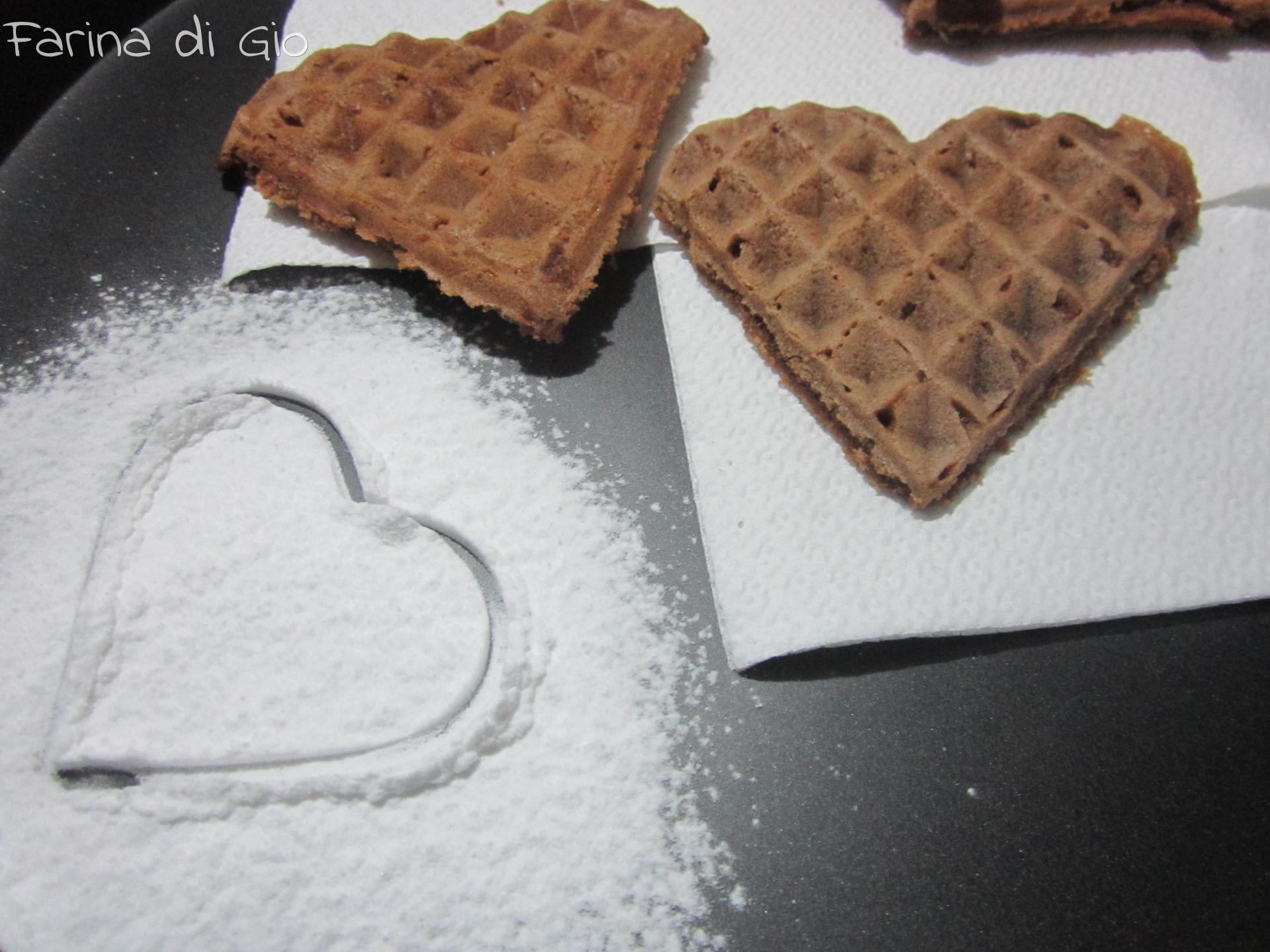 waffle cacao banana