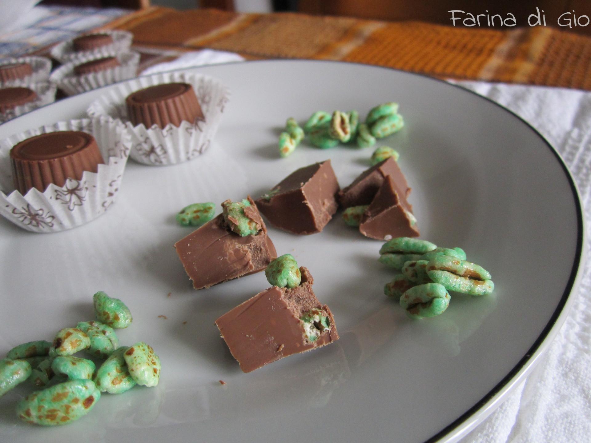 cioccolatini di farro soffiato e menta