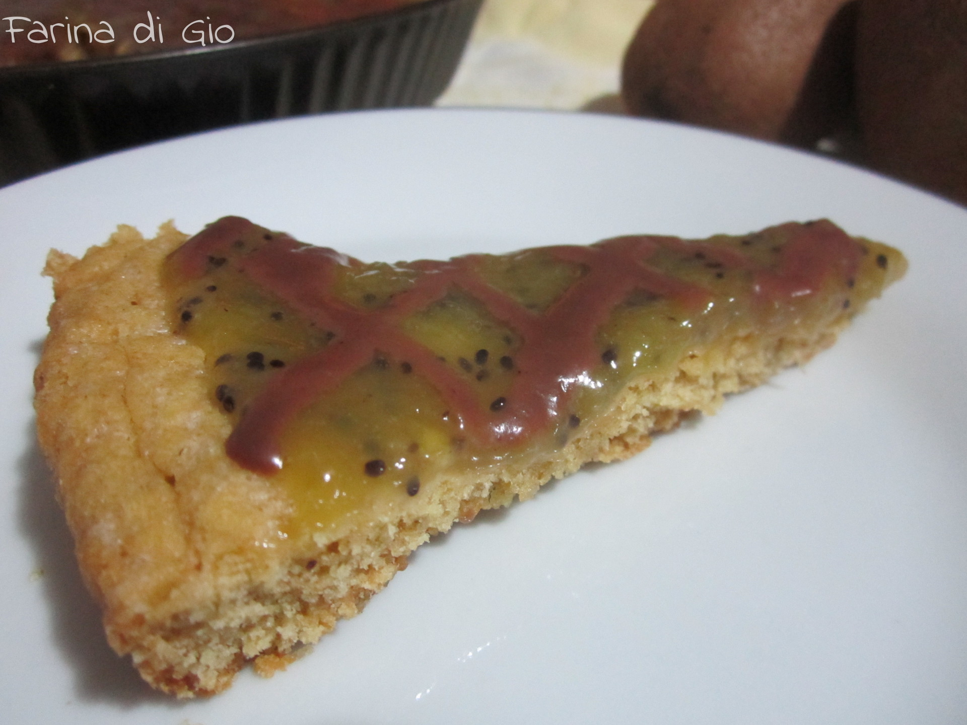crostata kiwi cioccolato