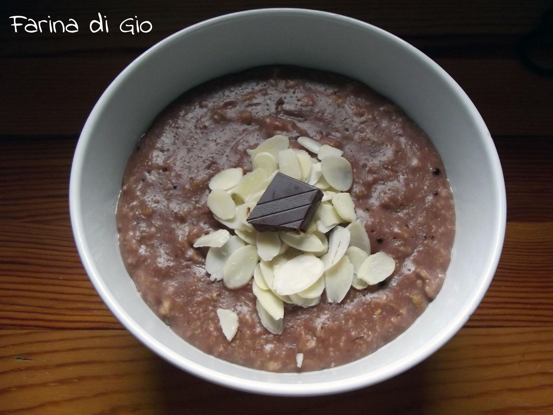 porridge cacao mandorle