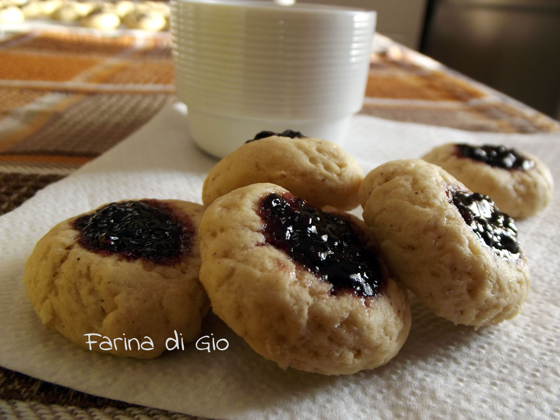 thumbprint cookies di farro