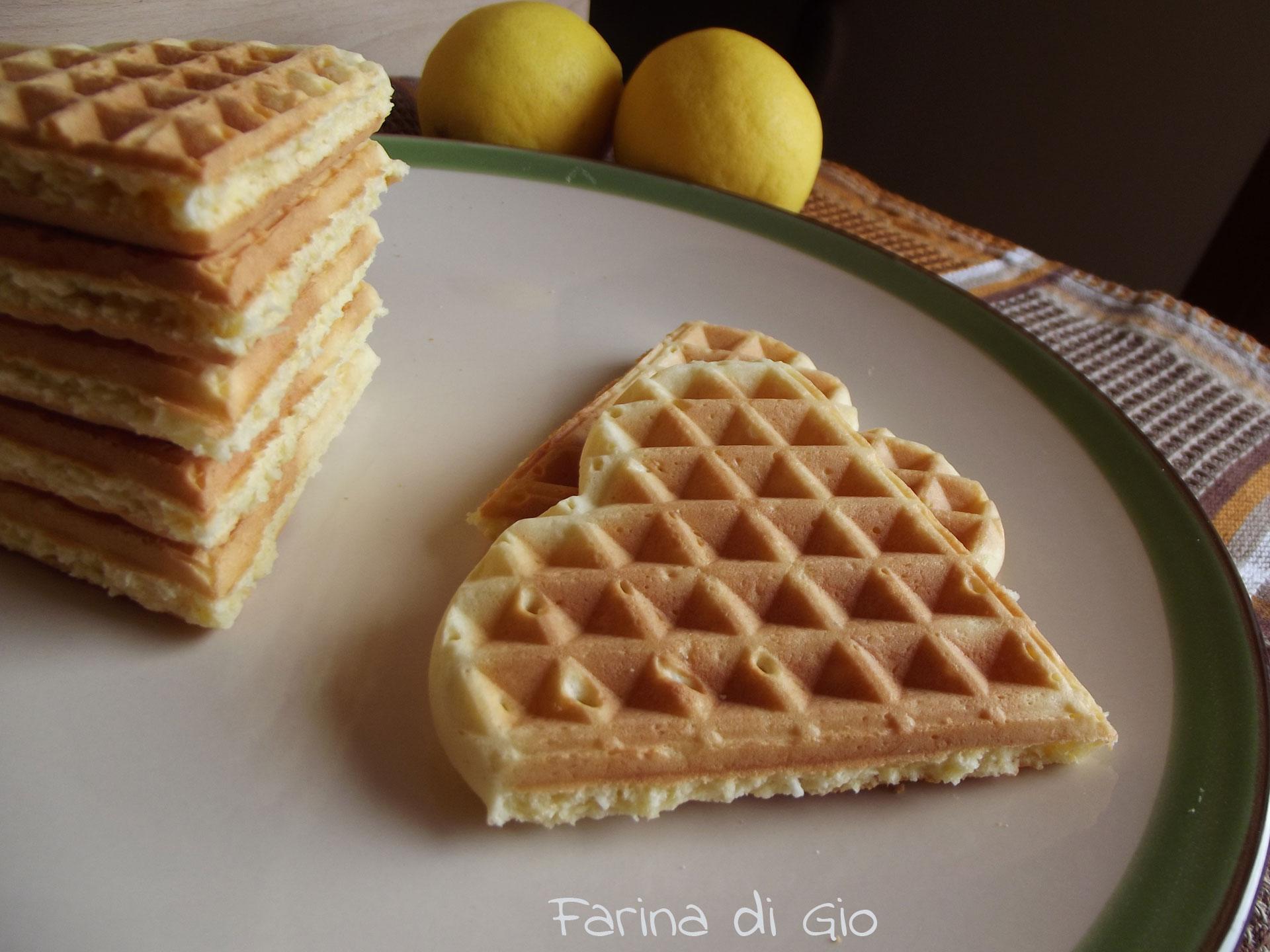 waffle di farro al cocco e al limone