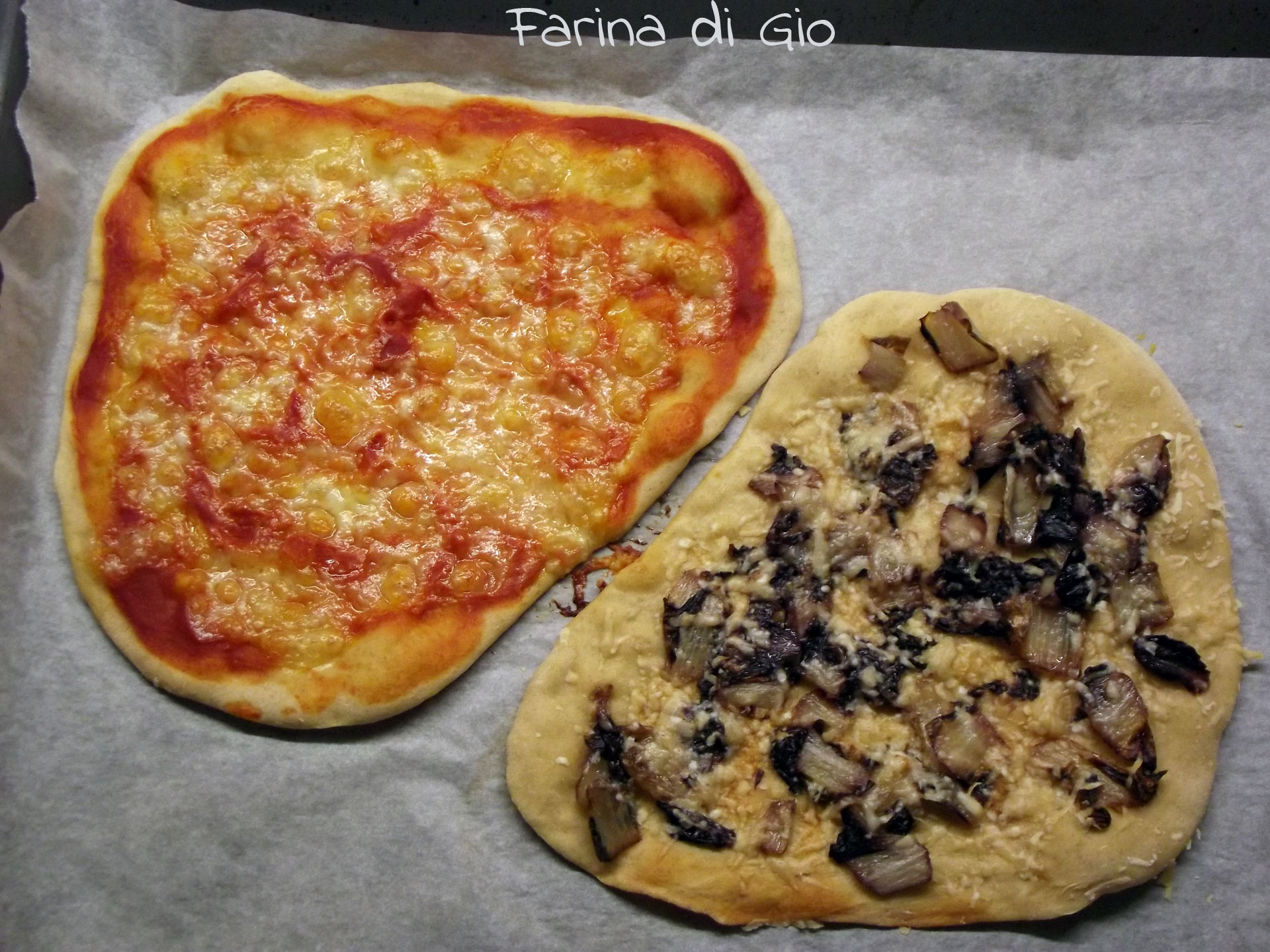 Pizza semi-integrale di farro