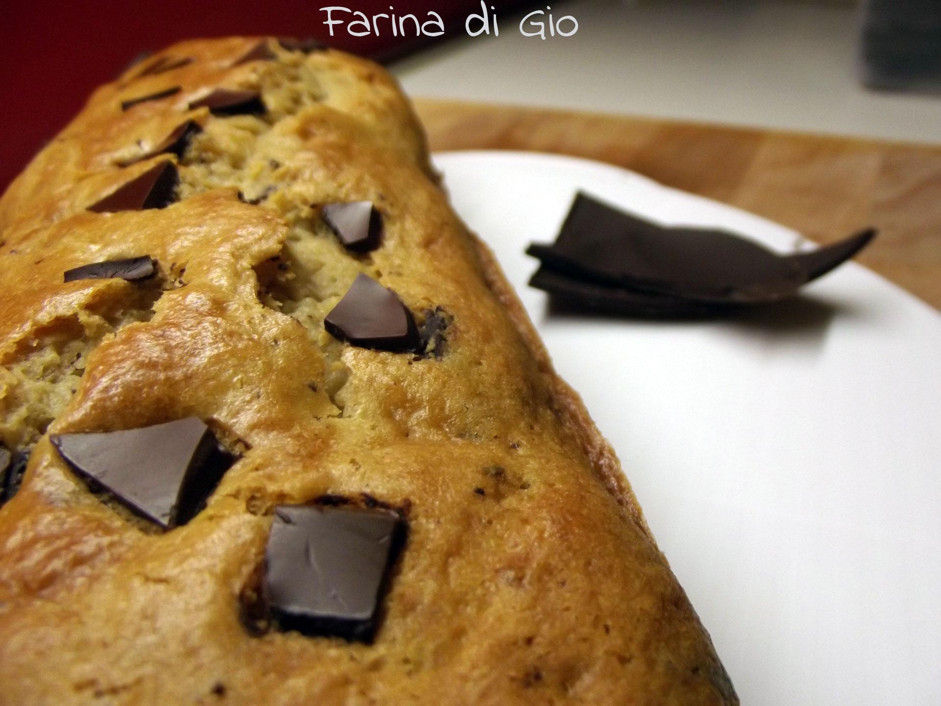 plum cake pera cioccolato senza frumento