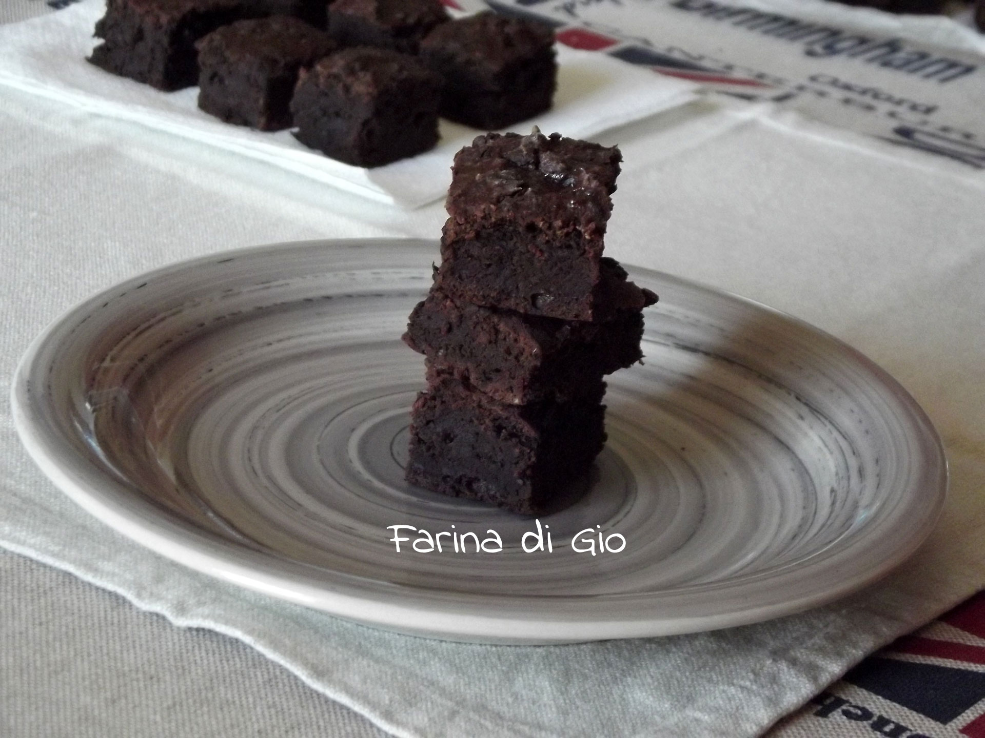 brownies con yogurt greco